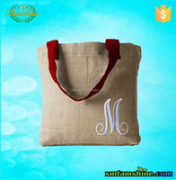 high quality reuseable eco burlap tote bags