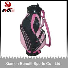 PU leather golf caddie bag