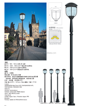 Cast Iron Tapered Outdoor light Pole, Street Lamp post