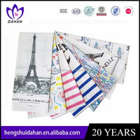 100% cotton custom printed linen tea towel