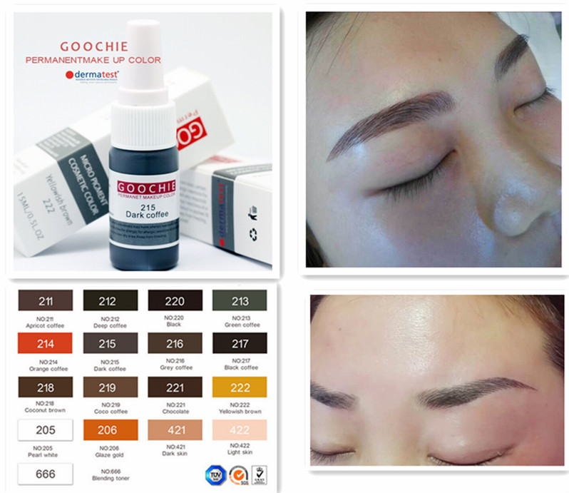 Tattoo Ink Type Eyebrow Embroidery Tattoo Color Inks Buy Micro Pigment Ink Permanent Make Up