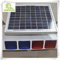 Wholesale four sides LED solar powered traffic signal strobe light