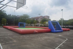 inflatable football table , LZ-113 football pitch inflatable sport for competition