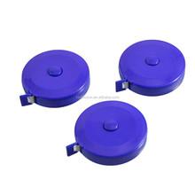 3 Pcs 150cm 60 inch Push Button Round Case Soft Retractable PVC/Plastic Tape Measure