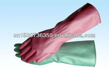 all kinds of colorful elbow length latex free dishwashing gloves
