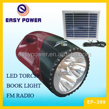 plastic solar rechargeable led torch with FM radio