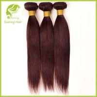 Xuchang Hair Factory Produced Cheap 3 Bundles Red Brazilian Hair Weave