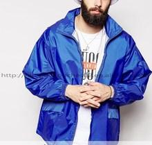 2015 fashion design blue waterproof varsity jacket trim