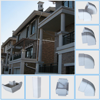 Wanael PVC rain gutter, low cost roof drainage system China manufactory