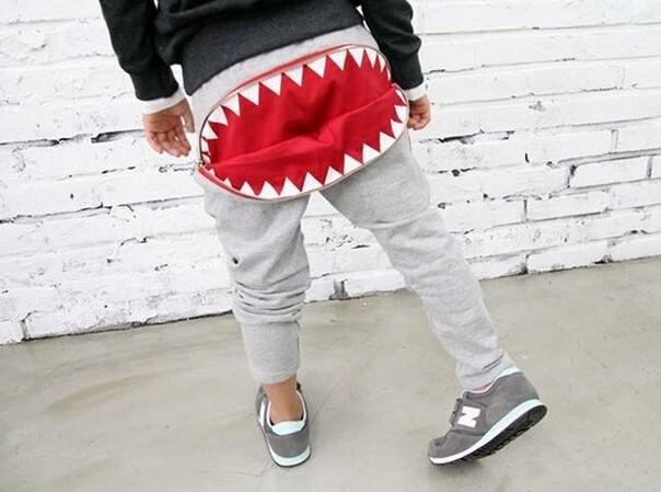 дети брюки гарем брюки молния зубы девочек мальчиков случайных брюки, модные спортивные штаны