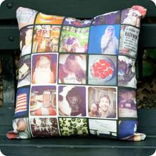 Custom impressão digital foto de lembrança/moldura decorativa throw travesseiros