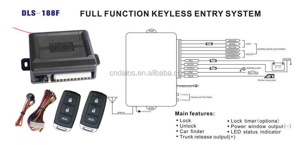 Universal Car Auto Remote Control Central Door Lock Locking Keyless