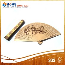 Business promotional gift decorative chinese carved cheap hand held fan