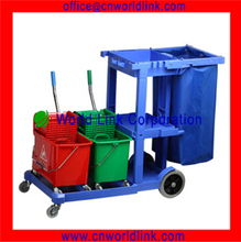 4 Wheels Plastic Hotel Cleaning Trolley Cart