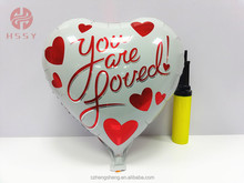 Foil heart balloons event & party supplies