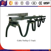 Crane Electric Rail System C-track Cable Trolley