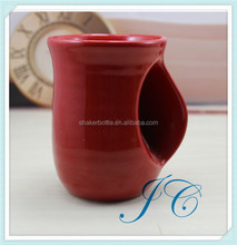 2015 best sale red Ear handle ceramic mug with fast production and shipping