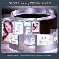 modern new design mdf wood luxury perfume kiosk for sale