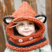 latest design hats KNITTING PATTERN Failynn Fox Cowl baby winter hats