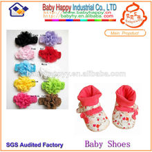 moda diadema y zapatos de bebé calcetines