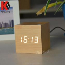 HOT digital clock home decor LED clcok fashion wood clock table clock with high quality