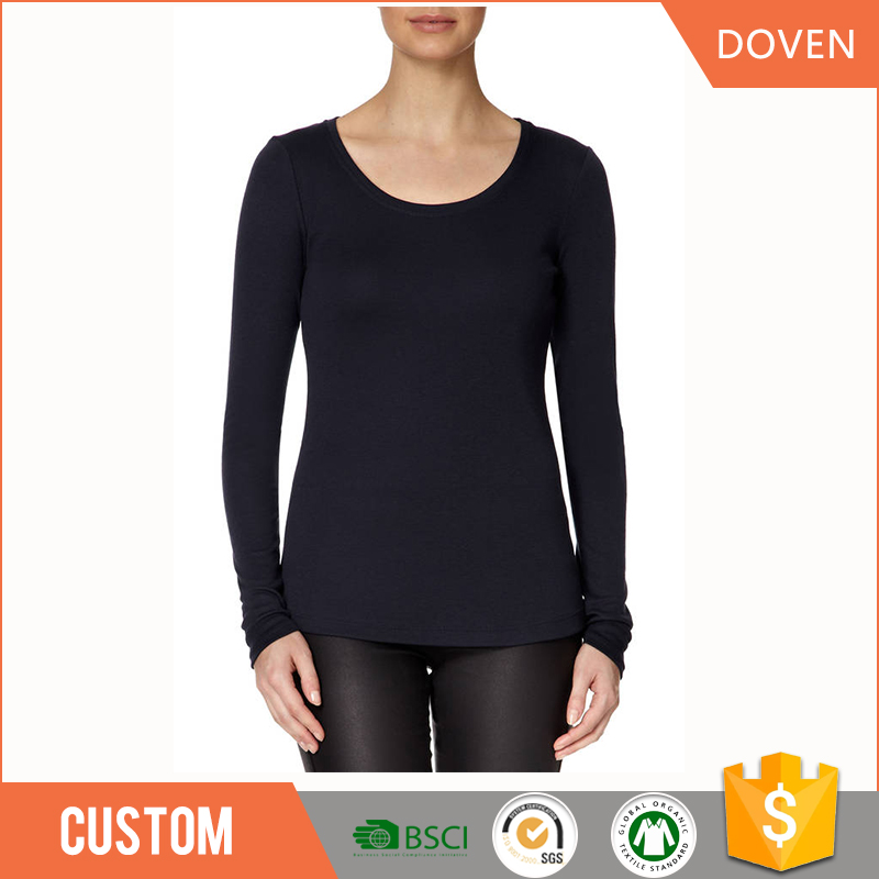 Wholesale long sleeve plus size t shirt o neck t shirt for Plus size 3 4 sleeve tee shirts