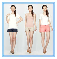 fashion new style cotton girls sexy black jean shorts
