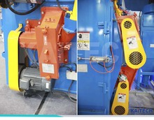 hanger shot blasting machine for welded constructions or casting materials