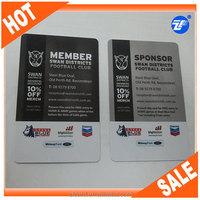 CMYK print discount/gift/membership plastic card suppliers