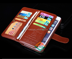 hot selling hard cover cell phone case ultra thin for iphone 6 / 6 plus with 9 card holders wallet case