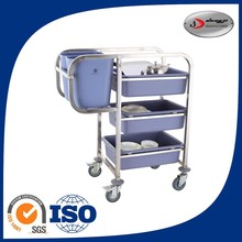 3layers dining restaurant utility trolley