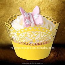 Excellent engraved paper products decorative lace cupcake