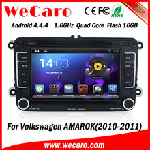 New Arrive A9 Fast CPU android car gps dvd player for vw amarok 2010 2011 Bluetooth DVD Video map google phonebook
