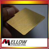 Mellow HL Hairline Stainless Steel Decorative Sheets Price For Sink/ Elevator/ Cabinet