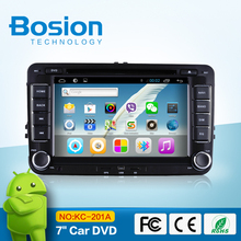 Good quality double dins 7 inch capacitive touch screen VW with GPS navigation bluetooth SWC WIFI 3D UI