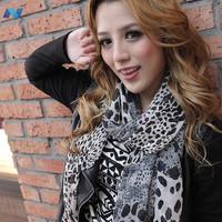 New Hot Fashion Trendy Cozy Women Ladies Noble Womens Scarf Shawl Neckerchief Muffle Designs Sexy Leopard