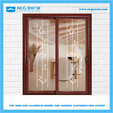 China low price residential aluminum sliding doors with grill design