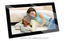 High resolution 18.5 inch digital photo frame, video/music/photo slide show/background music digital photo frame
