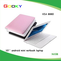 android mini pc 10inch netbook VIA8880 dual core1.5Ghz Android4.2 notebook pc ram 512mb/1G flash 4GB/8G laptop