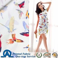 2015 new product 100% poly crepe printing fabric textile for lady's clothing
