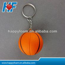 PU promotional mini basket stress ball with keychain