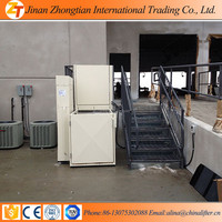 jinan zhongtian new product vertical hydraulic home stair lifts 1m
