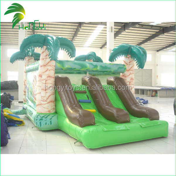 inflatable green slide  (3)