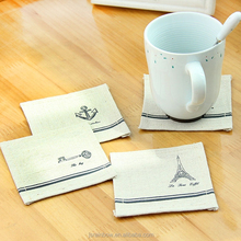 Cheap high quality washable print hotel restaurant cotton /linen table napkin