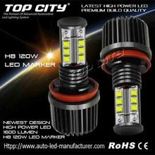 New Arrival Hot 1600LM 120W H8 LED Angel Eye Marker Kits For BMW E90,E92,E87,M3,X5,X6