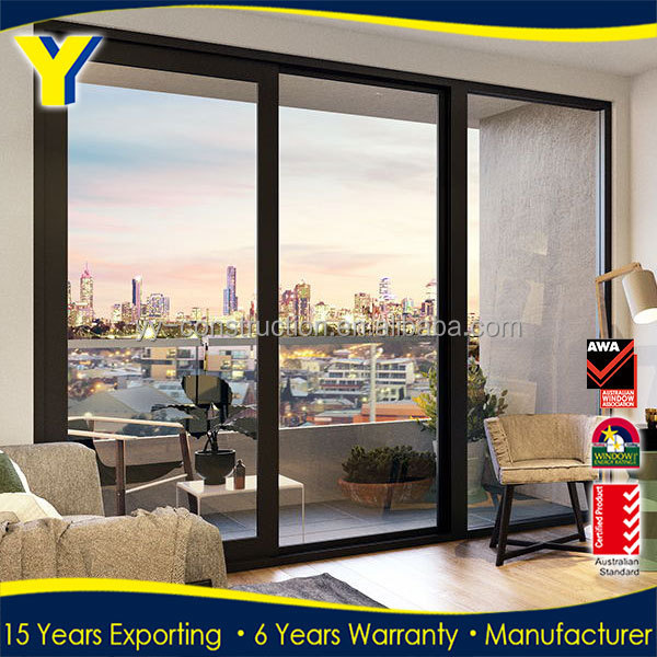 Aluminium double glazed doors and windows prices for Aluminum sliding glass doors price