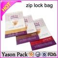 Yason bolsas con cierre zip para medicina conservación drug reutilizables bolsas de envasado de alimentos con cremallera cremallera bolsa plástico sellada embalaje