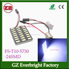 white led dome light 24 smd 5730 led licence plate festoon T10 BA9S