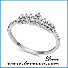 New designs 2 colors option high quality zircon mirco paved bague femme ring