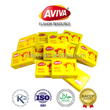 Halal Beef Flavor Bouillon Cubes Manufacture Mixed Spices [AVIVA CUBES]